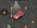 conduite, voiture, automobile, auto, cône