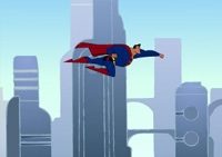 héros, superman, réflexe, laser, coup de poing