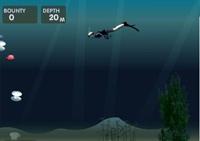 plongée, sous marin, plateforme, obstacles, reflexes, poissons