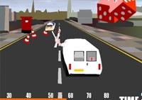 conduite, course, véhicule, pilotage, voiture, mini van, course poursuite, police, flics, policiers