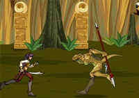 aventure, combat, armes, lances, épée, saut d'obstacles, créatures, magie, chasseur de prime