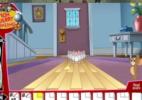 Tom, Jerry, bowling, strike, quilles, boules, adresse, spare, sport