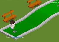 Mini golf, trous, parcours, club, golfeur, sport