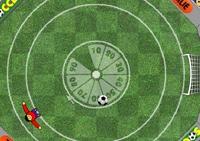 football, but, ballon, joueur de foot, cage, goal