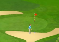 Golf, club, balle, green, trous, swing, golfeur, sport