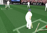 Cricket, balle, batte, lanceur, sport