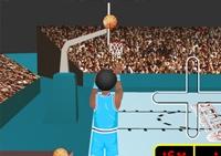 Tir, basketball, panier, cerceau, lancer franc