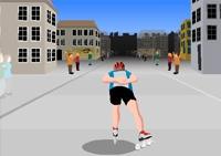 Roller, sport, patins, patinage, patinneur, rollers en ligne