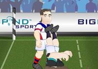 Rugby, drop, ballon ovale, sport, match, plaquage, mélée, ovalie, balle