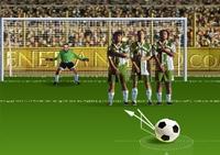 football, coup franc, ballon, sport, frappe