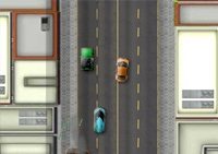 voiture, poursuite, course en ville, véhicule