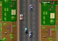 voiture, course, poursuite, policier