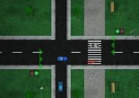 voiture, voiture en ville, circulation, feu rouge, véhicule, police, policier, agent